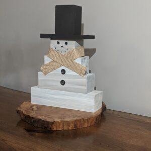 Wooden Snowman1